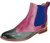 Stiefeletten 'Amelie' blau / pink / schwarz