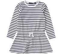 Kinder Jerseykleid schwarz / weiß