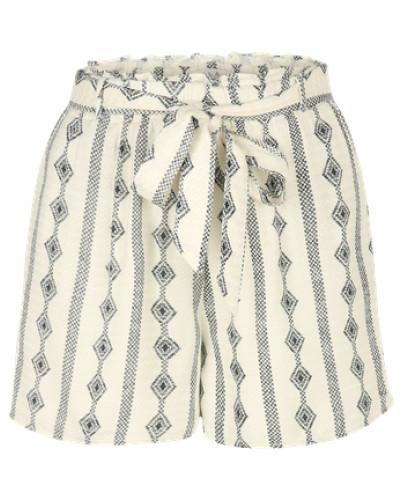 Shorts 'Viethnoline' creme / schwarz