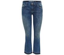 Bootcut Jeans Nadia reg cropped blau