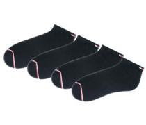 Sportfüßlinge (4 Paar) schwarz