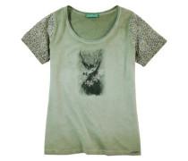 Trachtenshirt Damen mit Schmucksteinapplikation grasgrün