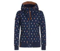 Jacket navy / braun