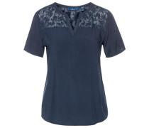 Shirt / Blouse T-Shirt mit Chiffon-Einsatz navy