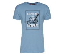 Shirt 'Stay ' rauchblau