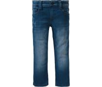 Pelle: Blaue Stretchjeans blau
