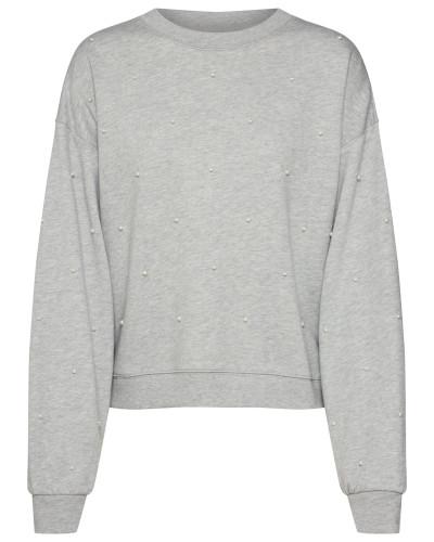 Pullover 'pearl PO' hellgrau / graumeliert