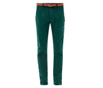 Sneck Slim: Coloured Chino mit Gürtel tanne
