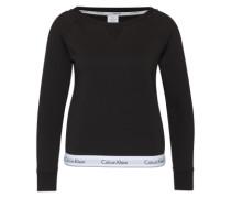 Sweatshirt mit Logo-Bund schwarz