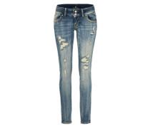 Stretchige Skinny Jeans 'Molly' blue denim