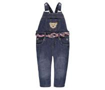 Jeans-Latzhose mit Gürtel blau