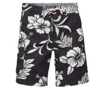 Badeshorts »3 Color Flower Print Boardshort« schwarz / weiß