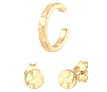 Ohrringe Basic Ohrstecker Earcuff Set gold
