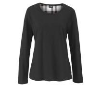 Pyjama mit karierter Flanellhose schwarz / weiß