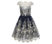 Kleid mit Tüll 'chi CHI Yazzy' champagner / navy