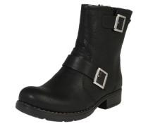'Boots mit Schnallendetail' schwarz