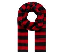 Schal mit schmalen Blockstreifen rot / schwarz