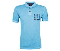 Poloshirt im Garment-Dye-Look aqua