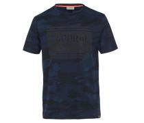 T-Shirt 'Otaro' dunkelblau / nachtblau