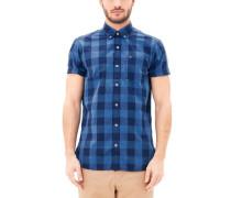 Regular: Kariertes Kurzarmhemd blau