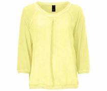 Rundhalsshirt gelb