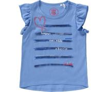 T-Shirt für Mädchen blau / dunkelblau / rot / weiß
