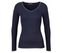 V-Ausschnitt-Pullover dunkelblau