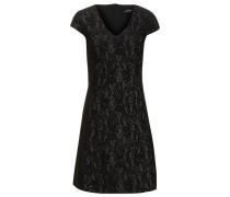 Jacquard Kleid schwarz