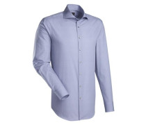 City-Hemd 'Brown Label' blau / weiß