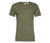T-Shirt mit Pocket dunkelgrau / oliv