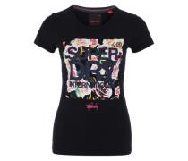 T-Shirt mit Print nachtblau / mischfarben / weiß