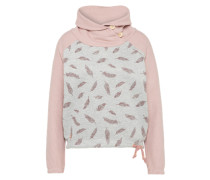 Pullover 'Eulo Batwing' hellgrau / rosa