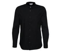 Hemd 'special collar shirt' schwarz