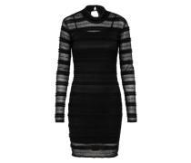 Spitzenkleid 'mia Mesh Dress' schwarz