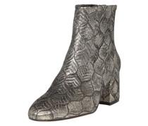Stiefelette im Metallic-Look silber