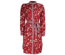 Kleid 'elena' rot / weiß