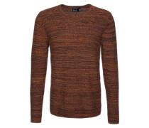 Feinstrick-Pullover 'Edres' braun