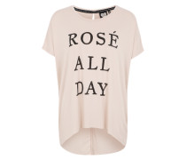 Oversize-Printshirt pink