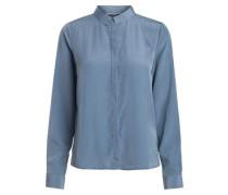 Langärmeliges Hemd rauchblau