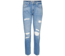 Knöchel-Regular fit Jeans blue denim