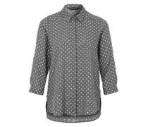 Bluse mit Punkten grau