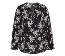 Schwingende Bluse mit Flowerprint mischfarben / schwarz