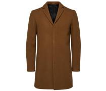 Mantel Wolle und Kaschmir braun