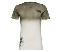 T-Shirt 'MT Share round' khaki / offwhite