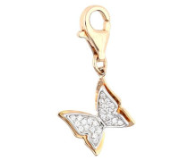 Charm Butterfly gold / silber