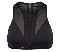 Mesh-Bikini-Top schwarz
