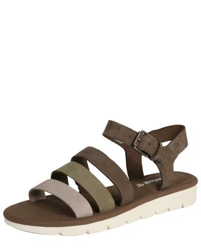 Sandale hellgrau / oliv