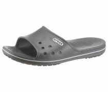 Pantolette 'Crocband II Slide' grau