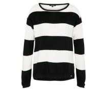 Pullover im Streifenlook schwarz / weiß