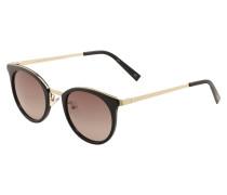 Sonnenbrille 'NO Lurking' gold / schwarz